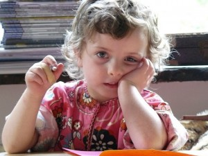 Child struggling to concentrate