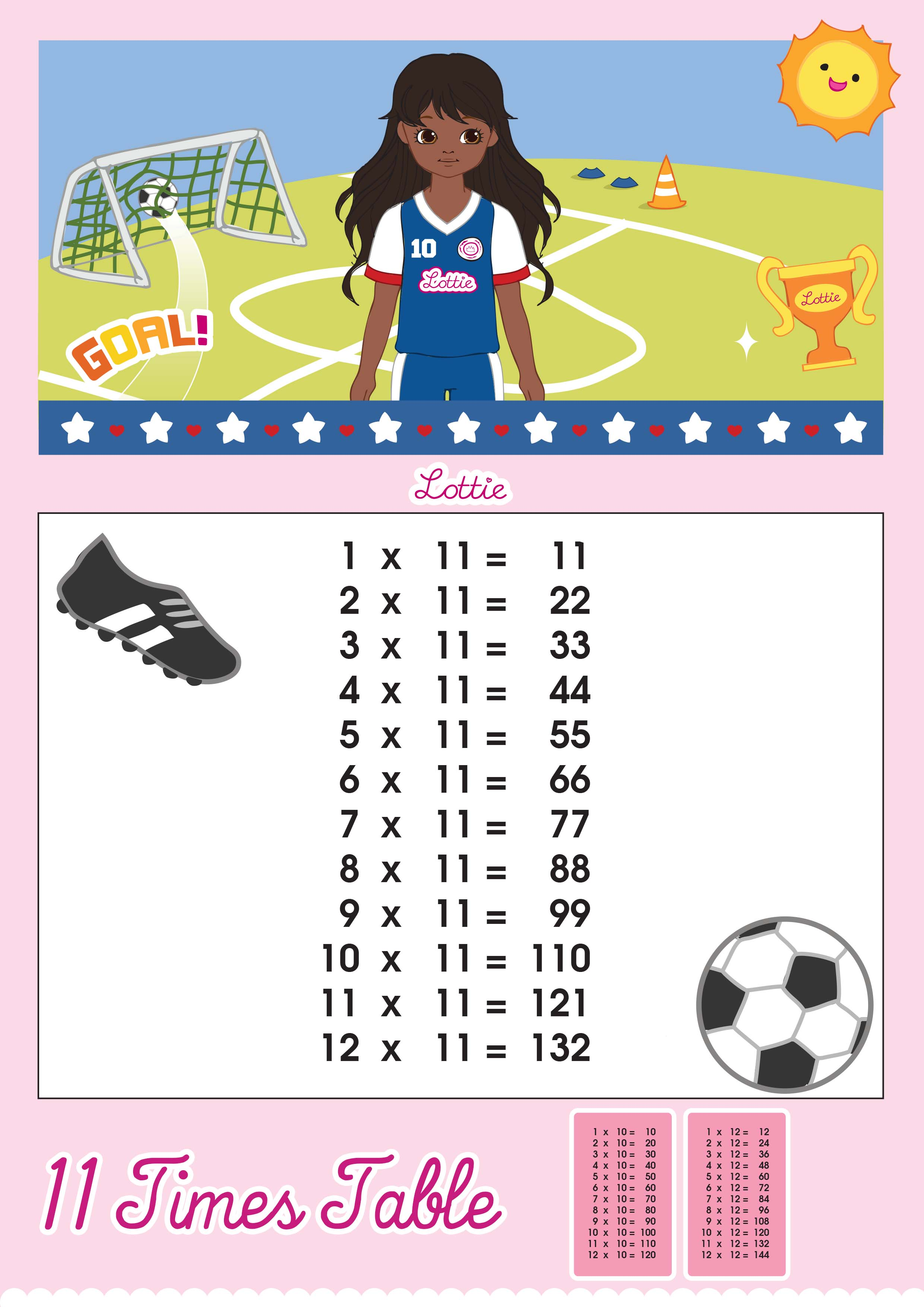 Learning times tables help for kids with dyspraxia dyspraxia kids eleven times table gamestrikefo Images