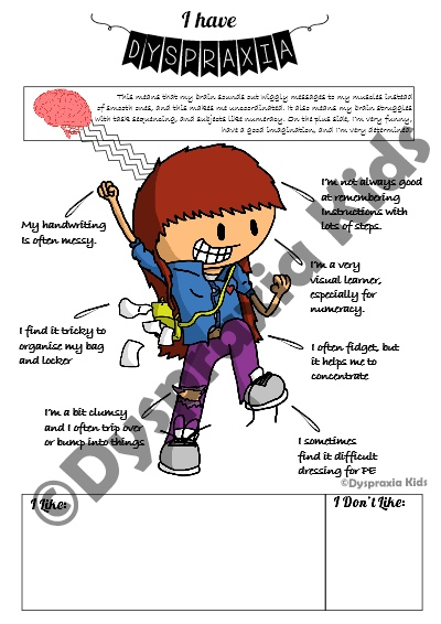 Get a Free Dyspraxia Handout for Teachers
